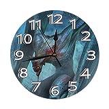 Zhgrong Vampire Manga Comics Art Bat Horloge Murale Silencieuse Non Ticking Ronde Horloge Décorative Classique