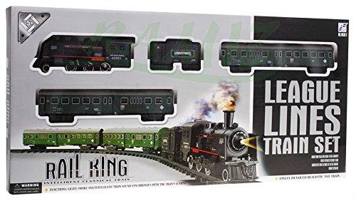 Elektrisch Eisenbahn Set 2 Schleifen- Licht- Und Soundeffekte, Mit Rauch Rail King