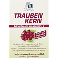 Avitale Traubenkernextrakt Kapseln, 100 Stück, 1er Pack (1 x 45 g) preisvergleich bei billige-tabletten.eu