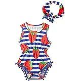 Jul Hold Neugeborenen Baby Kinder Mädchen Schöne Freizeit Kühle Quaste Obst Strampler Stirnband Set Outfit Sommer