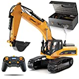 Top Race 23 Channel Full Functional Remote Escavator Construction Tractor, Full Metal Excavator Toy può trasportare Fino a 180 Lbs, Scavando Power of 1.1 Lbs per Cubic inch, Real Smoke, V.3 TR-211M