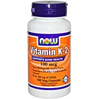 Vitamin K-2, 100mcg - 100 caps by NOW Foods