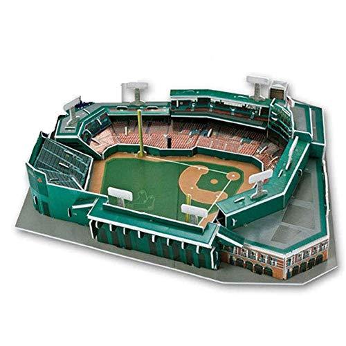 YWAWJ 3D-Stadion Puzzle Modell Boston Red Baseball-Stadion Modell Fans Gebäudemodell Bastelset Spielzeug Souvenir Kinder Lernspielzeug