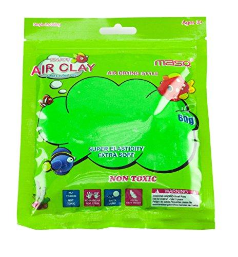 Loomiloo Springknete Zauberknete Hüpfknete Flummimasse Knete Slime Schleim für Kinder Kindergeburtstag Hellgrün