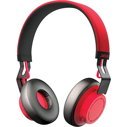 Jabra Move Wireless Stereo on-Ear-Kopfhörer (Bluetooth, kabellos Musik hören und telefonieren) rot (Fall 5 Iphone Urban)