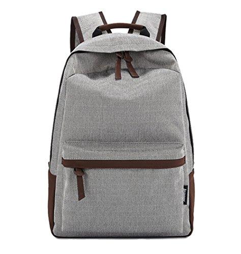 Ohmais Rücksack Rucksäcke Rucksack Backpack Daypack Schulranzen Schulrucksack Wanderrucksack Schultasche Rucksack für Schülerin beige