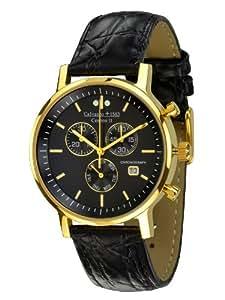 Calvaneo 1583 Centron II 'Gold Black' Slim Chronograph vergoldet