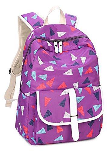 Teenager Mädchen Vintage Rucksack Leinwand Schulrucksäcke Reise Rucksack für 14
