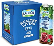 Lacnor Healthy Living Pomegranate Juice, Pack of 6 x 1 Liter