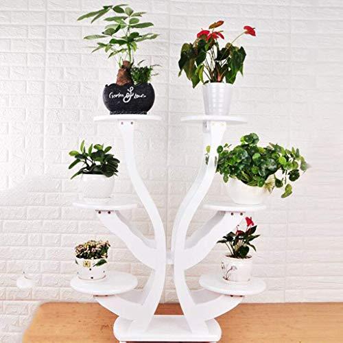 WLDD Massivholz-Blumenständer-Gestell-Wohnzimmer-hölzernes Mehrschichtiges Innenbalkon-Bonsai-Grün-Blumenregal Im Chinesischen Stil Fußboden (Farbe : A) -