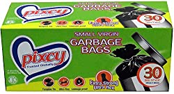 Pixcy Premium (17inch X 19inch) Garbage Bags With Detachabable Tie (pack of 150 Bags)