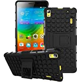 Lenovo K3 Note Cover, Lenovo K3 Note Cover, [Quicksand]Rugged Back Cover Kickstand Armor Case with Kickstand Lenovo K3 Note (Black)
