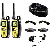Topcom Twintalker 5400 - Walkie-Talkie (8 canales, incluye baterías recargables), negro y amarillo