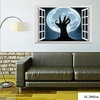 Xue Halloween-Wandgemälde, 3D, DREI Dimensional, Kreativ, Ausbrechen Zombie-Hand, Schlafzimmer, Wohnzimmer, Einkaufszentrum, Tapeten, Wand-Decal, Aufkleber, Kunst-Dekor, Selbstklebendes Papier