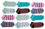 #5: CAMEY Women's Combo Of 12 Ankle Socks (Multicolor)