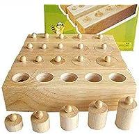 QXMEI Jouet Enfants en Bois 1-2-3 Ans Enfant Combinaison Jouet Socket  Cylindre 05ec643cdcdd