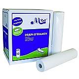 Draps d'examen ouate blanc 2x18g/m5515064 - Carton de 12 rouleaux - 2 plis...