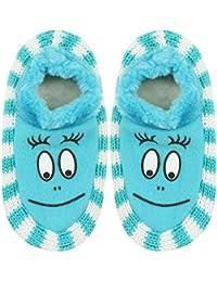Neska Moda Soft Cotton Girl Blue Bootie Cum Indoor Slipper for 4 to 6 Years BT349