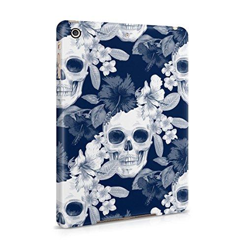 Tropical Blumen Pirate Skulls Pattern Indie Hype Hipster Rad Tumblr Dünne Rückschale aus Hartplastik für iPad Mini 2 & Mini 3 Tablet Hülle Schutzhülle Slim Fit Case Cover