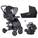 Hauck Malibu 4 Trio Set, 3 in 1 Travel System from Birth up