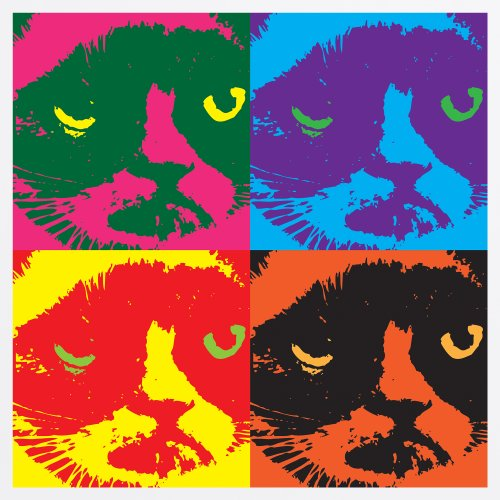 Grumpy Cat T-Shirt, Herren Wei