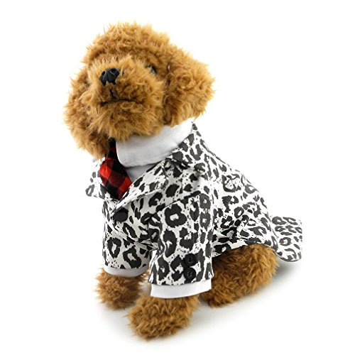 ranphy Kleiner Hund/Katze Plaid T-Shirt Smoking Red Krawatte T-Shirt Party Anzug Haustier (Dress Kostüme Cat Fancy Anzüge)