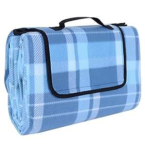 songmics 200 x 200 cm xxl picknickdecke fleece wasserdicht gcm71b garten. Black Bedroom Furniture Sets. Home Design Ideas