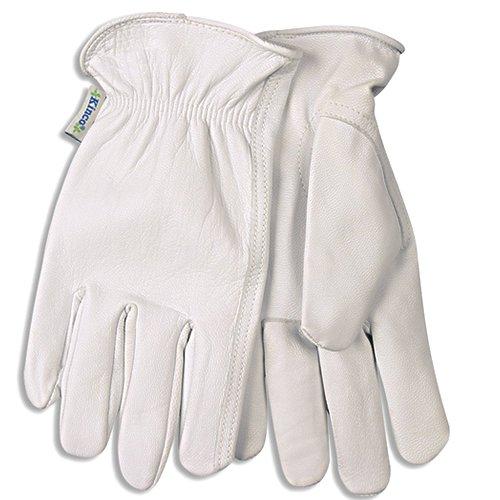 Ziegenleder-treiber Handschuhe (Kinco 92W-s Frauen ohne Futter auskommt Ziegenleder Treiber Handschuhe, klein, weiß)