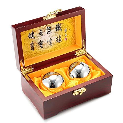 Sfere di Baoding di rinforzo del polso di MeFe, sfere di Baoding Sfere di sforzo di esercizio di salute cinese (diametro di acciaio solido 45MM pesa 320 grammi)