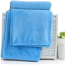 Mantas suaves Pure Color Thin Single Manta doble de la siesta Manta del aire acondicionado de