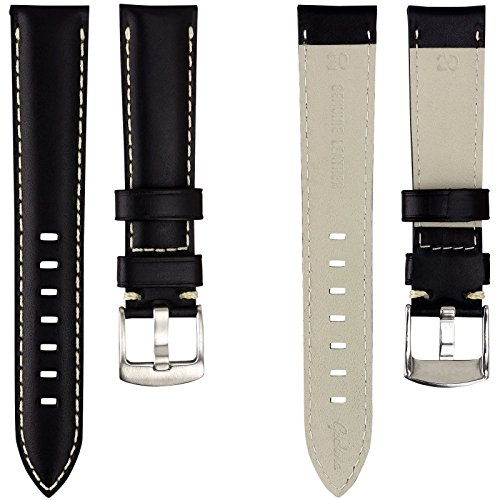 geckotar-genuine-italian-leather-padded-watch-strap-black-with-ivory-stitching-20mm