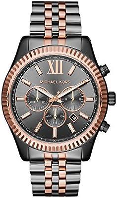 Michael Kors Reloj Cronógrafo para Unisex Adultos de Cuarzo con Correa en Acero Inoxidable MK8561