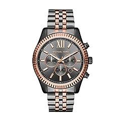 Idea Regalo - Michael Kors Orologio Cronografo Quarzo Unisex Adulto con Cinturino in Acciaio Inox MK8561