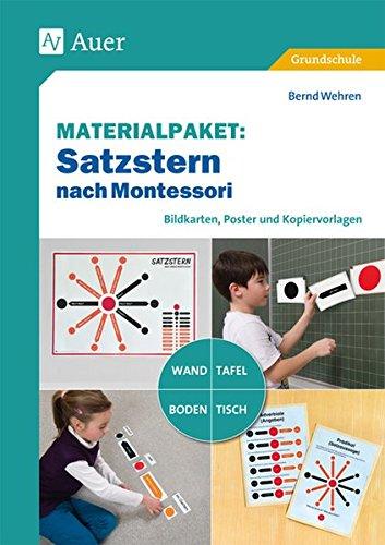 Materialpaket Satzstern nach Montessori: Bildkarten, Poster und Kopiervorlagen für Tafel, Wand, Tisch oder Boden (3. und 4. Klasse)