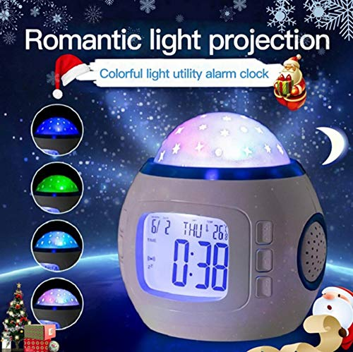 Sky Star Nachtlicht Projektionslampe Mit Multifunktions Led Wecker Musik Kalender Thermometer Kinder Nachtlichter Wohnkultur