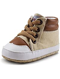 DELEBAO Botas de Bebé Zapatitos de Recien Nacido Primeros Pasos Zapatos para Caminar Zapatillas Bebe con Suela Blanda Botines para Bebes Niña Niño