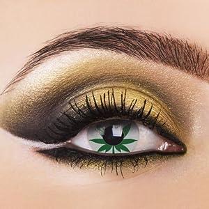 80009 Paar Kontaktlinsen linsen farbig grün neu