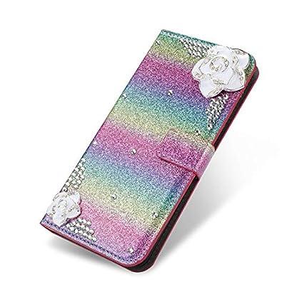 6City8Ni-Bling-Glitzer-Diamant-Magnetverschlu-Ledertasche-fr-Samsung-J5-2017
