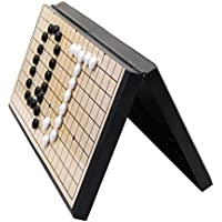 Sharplace Tragbar Go Spiel Set, Inkl. Spielbrett und Magnetische Spielsteinen, Weiß & Schwarz