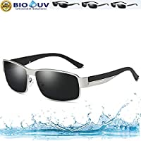 ZDQ Pilot Polarized Sunglasses Men & Women - Marco de Metal Protegido UV 400 para Driving Beach Fashion Travel