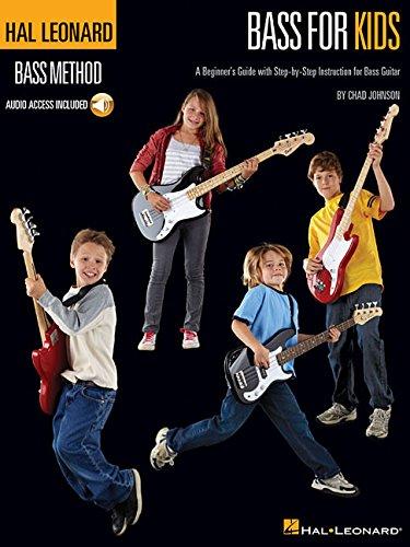 Hal Leonard Bass Method Bass For Kids Beginners Guide Bgtr Tab Bk/Cd por VARIOUS