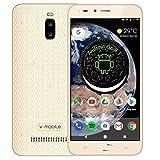 Smartphone Pas Cher v mobile A13 Android Go/8.1 (8GB+16GB ROM) téléphone Portable Pas Cher sans Forfait 5MP Caméra 5.5 Pouces WiFi GPS 3000mAh (Or)