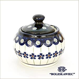 [Boleslawiec / Boresuwavu~ietsu pottery ] Sugar pot S-166 ( Polish Pota Lee )