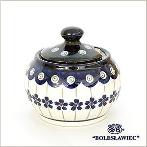 [Boleslawiec / Boresuwavu~ietsu pottery ] Sugar pot S-166 ( Polish Pota Lee )