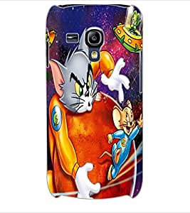 ColourCraft Funny Cat and Rat Design Back Case Cover for SAMSUNG GALAXY S3 MINI I8190
