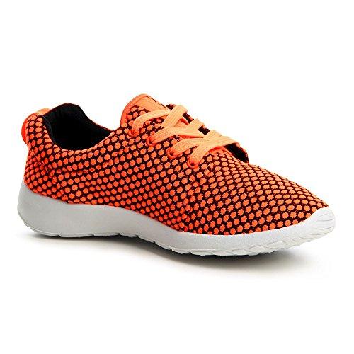 topschuhe24 674 Damen Sneaker Turnschuhe Orange
