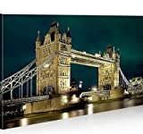 islandburner Bild Bilder auf Leinwand Tower Bridge London 1p XXL Poster Leinwandbild Wandbild Dekoartikel Wohnzimmer Marke