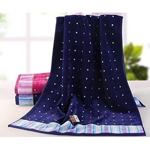 Il cotone spessi e soffici asciugamani assorbente velour giovane asciugamano da bagno asciugamani teli da mare -130*65cm