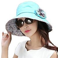 Siggi Ladies Bucket Summer Sun Hat Foldable Beach Cap Wide Brim UPF50+ Packable for Women 9