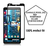 #10: Cover Crafts Google Pixel 2XL Screen Protector (5D Glass),Curved Edge Full Screen Tempered Glass Edge with high Quality Real Tempered Glass Screen Protector (Black)